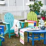 colorful rainbow all weather patio furniture