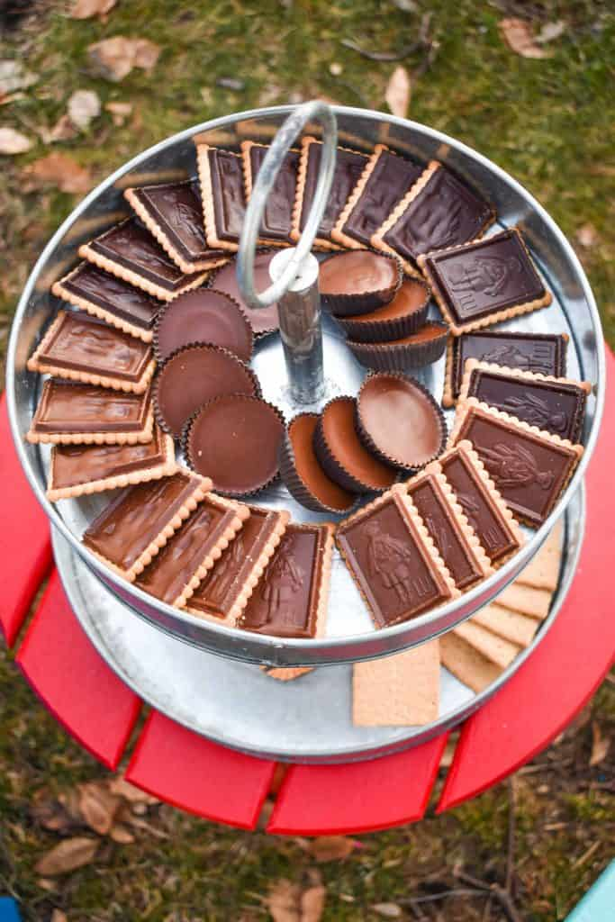 colorful furniture for your backyard s'mores party