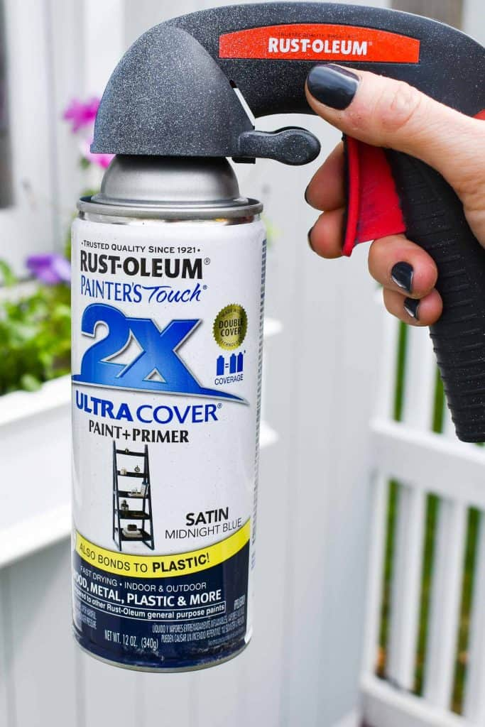 spray paint can for headboard makeover