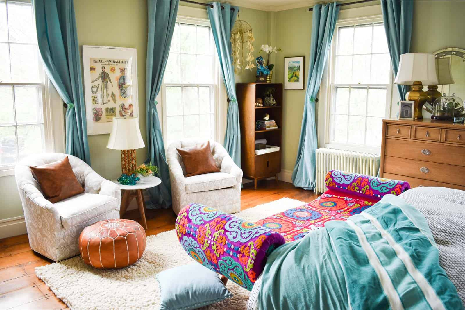 master bedroom updates with color and pattern