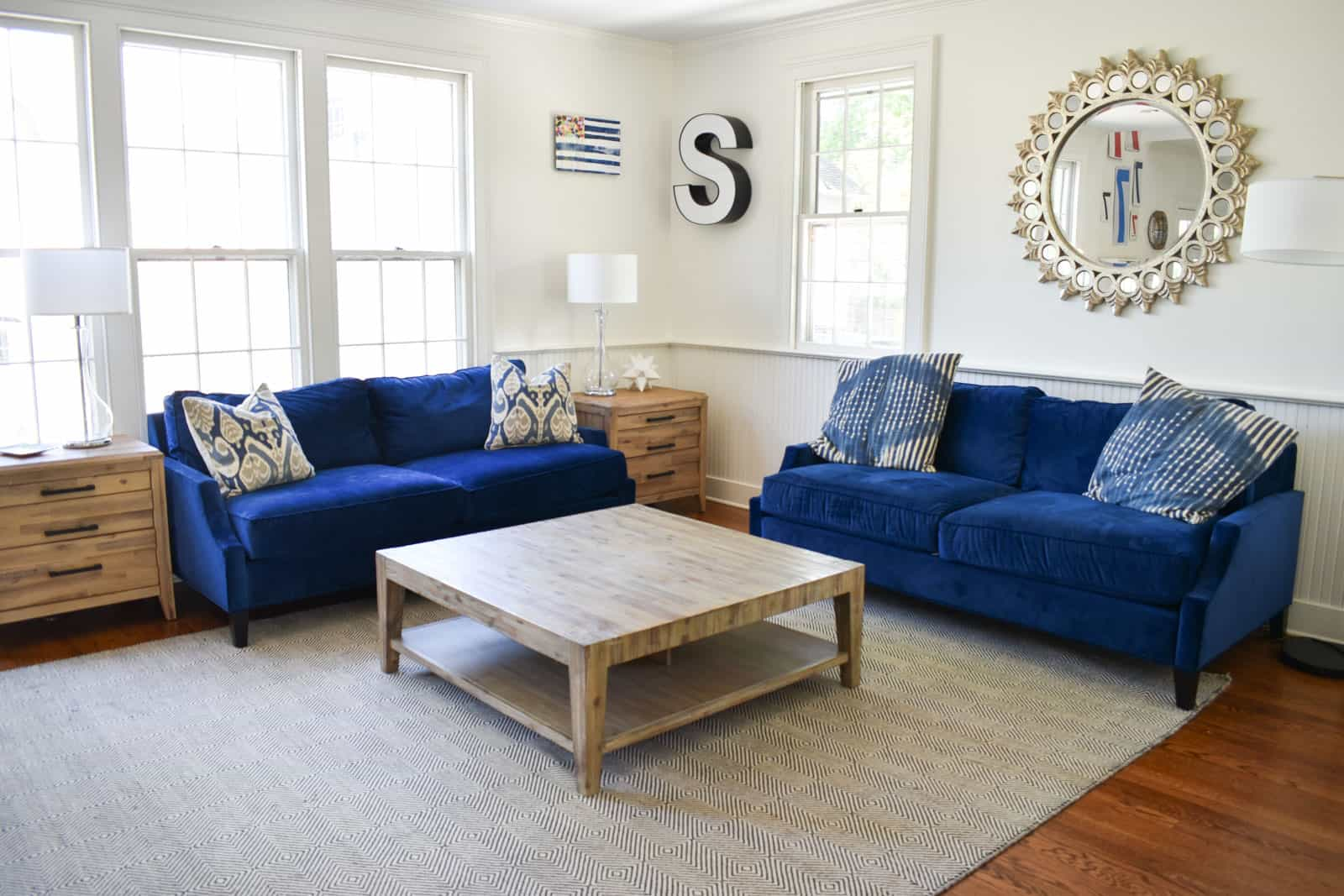 family room for home staging