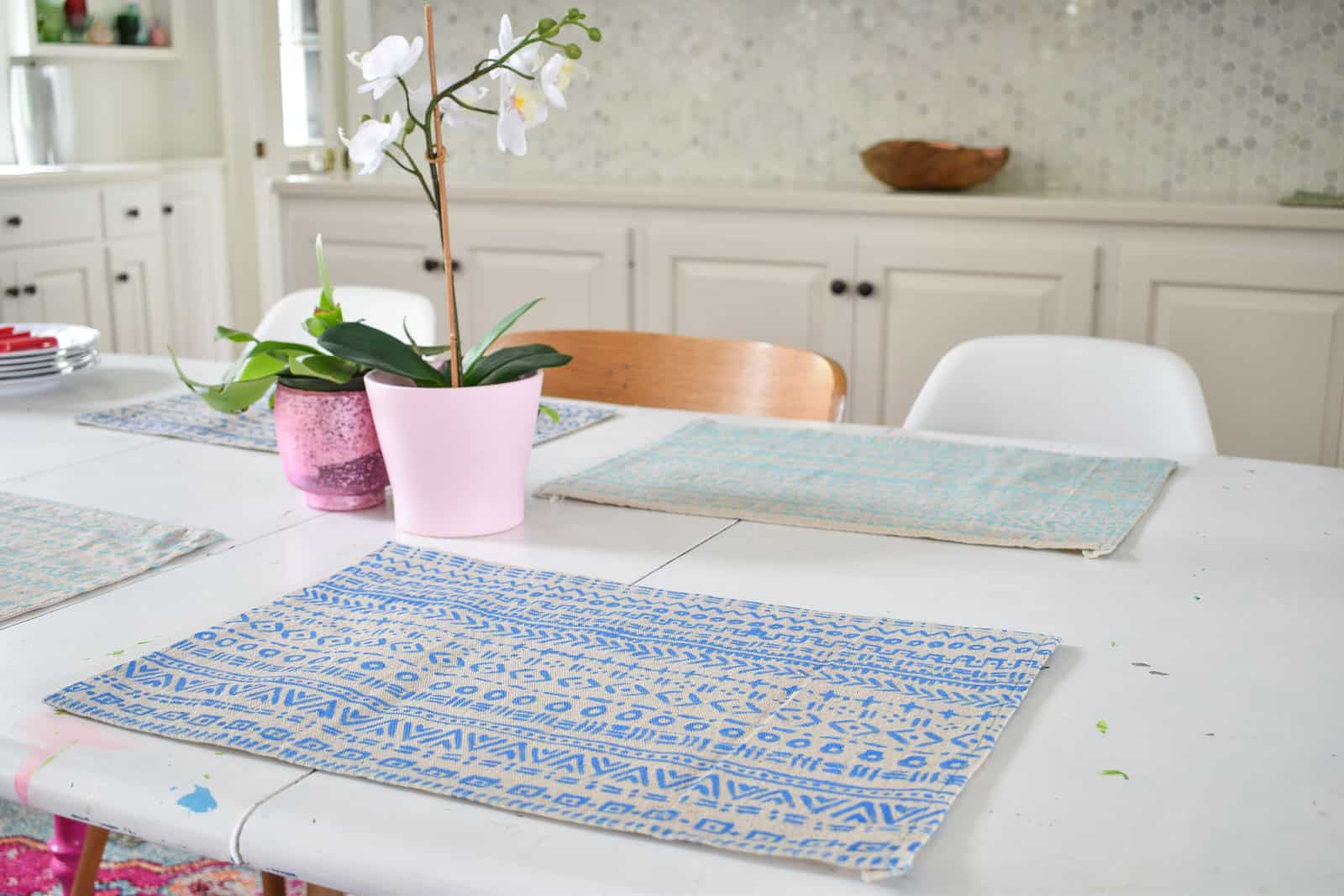 mudcloth placemat tutorial