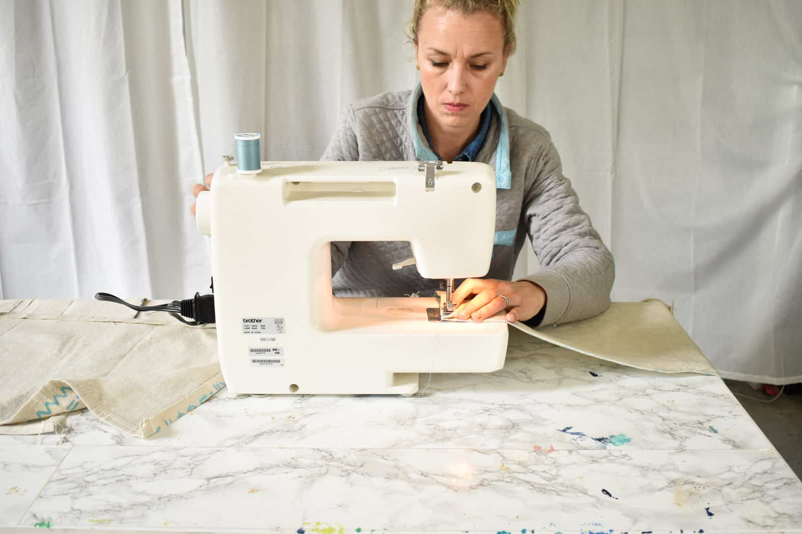 sew or glue the seams of placemat
