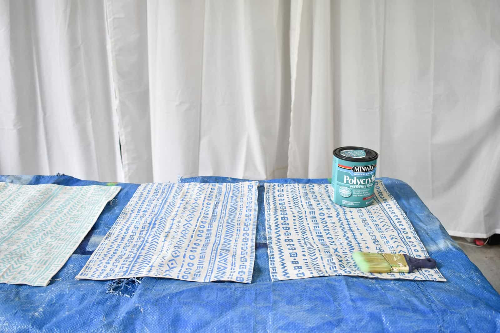 paint placemats with polycrylic to seal
