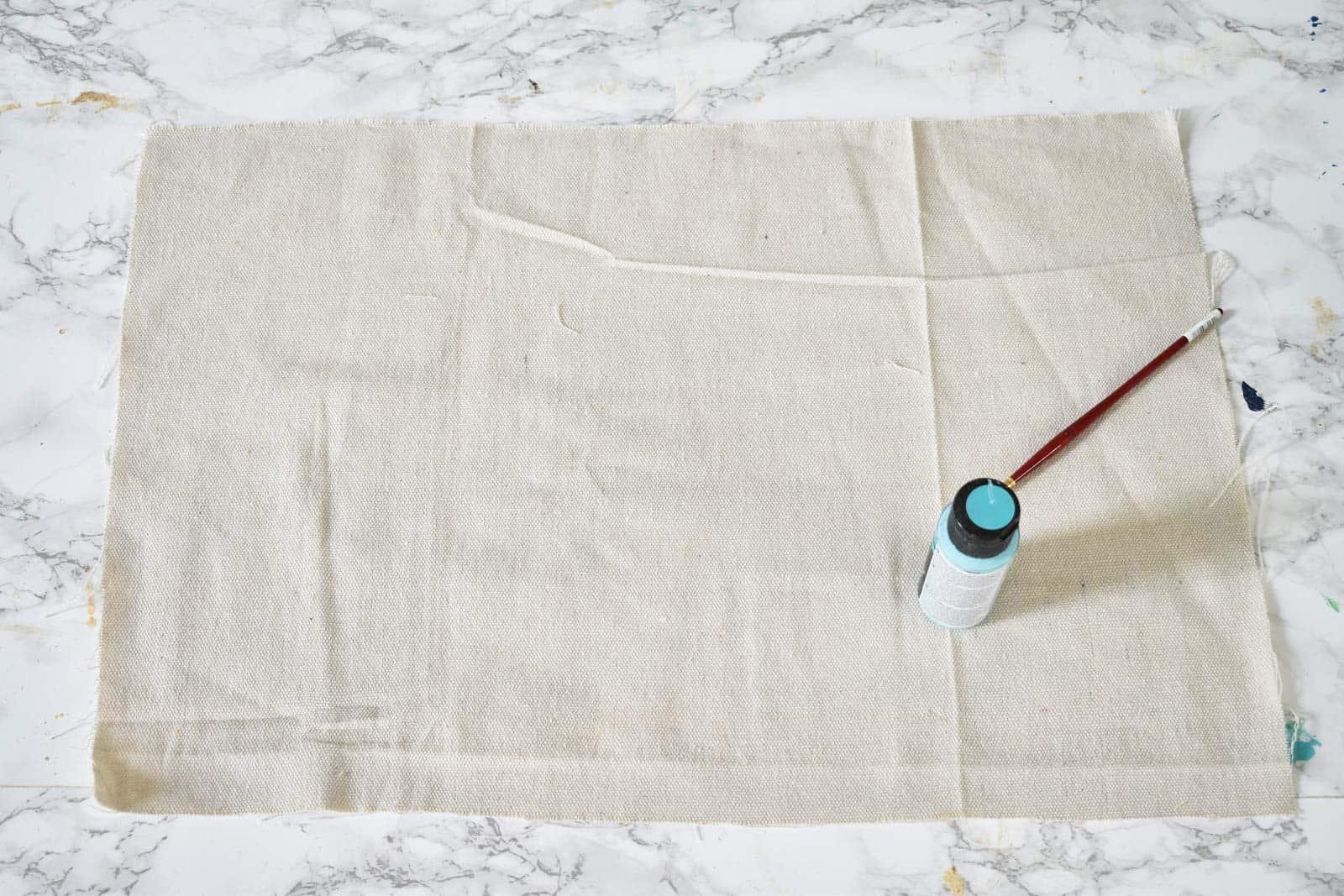 Cut dropcloth to size