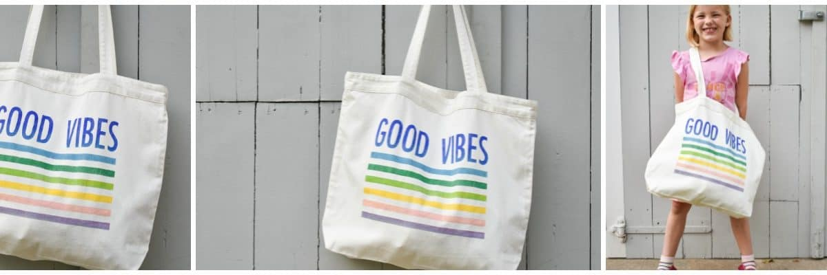 How to Make a Colorful Stenciled Tote Bag