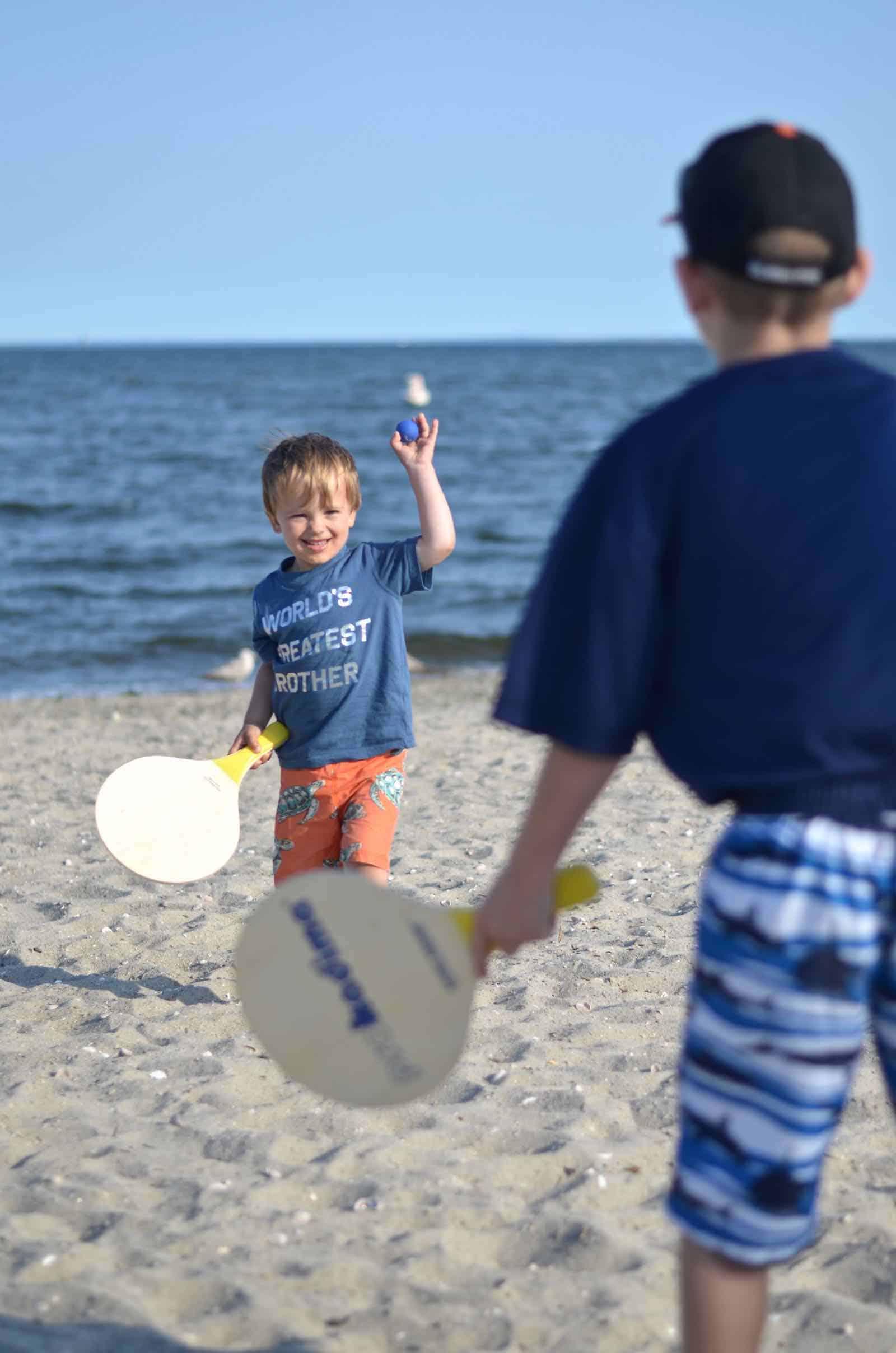 playing kadima with his brother