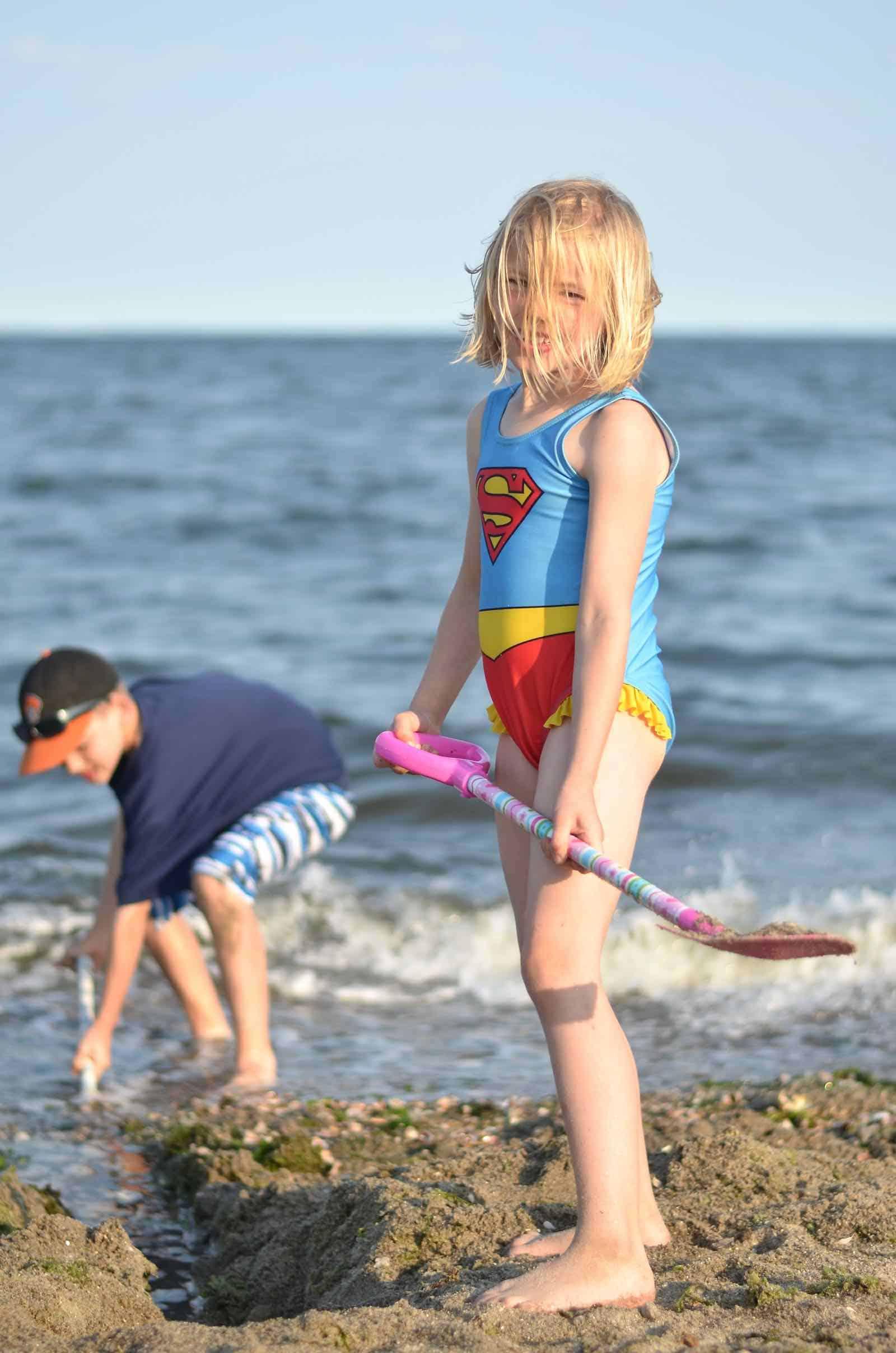 larger beach shovel