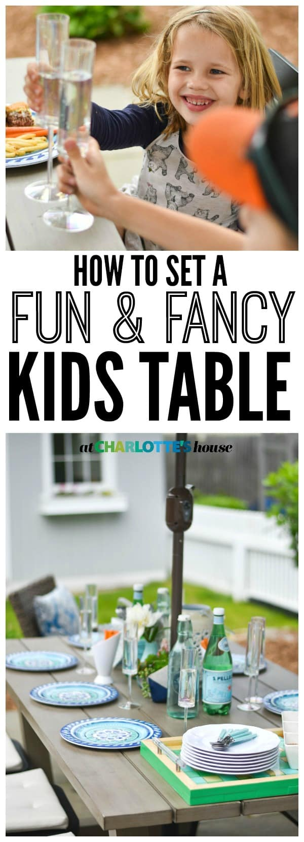 Setting a fun and fancy kids table for summer