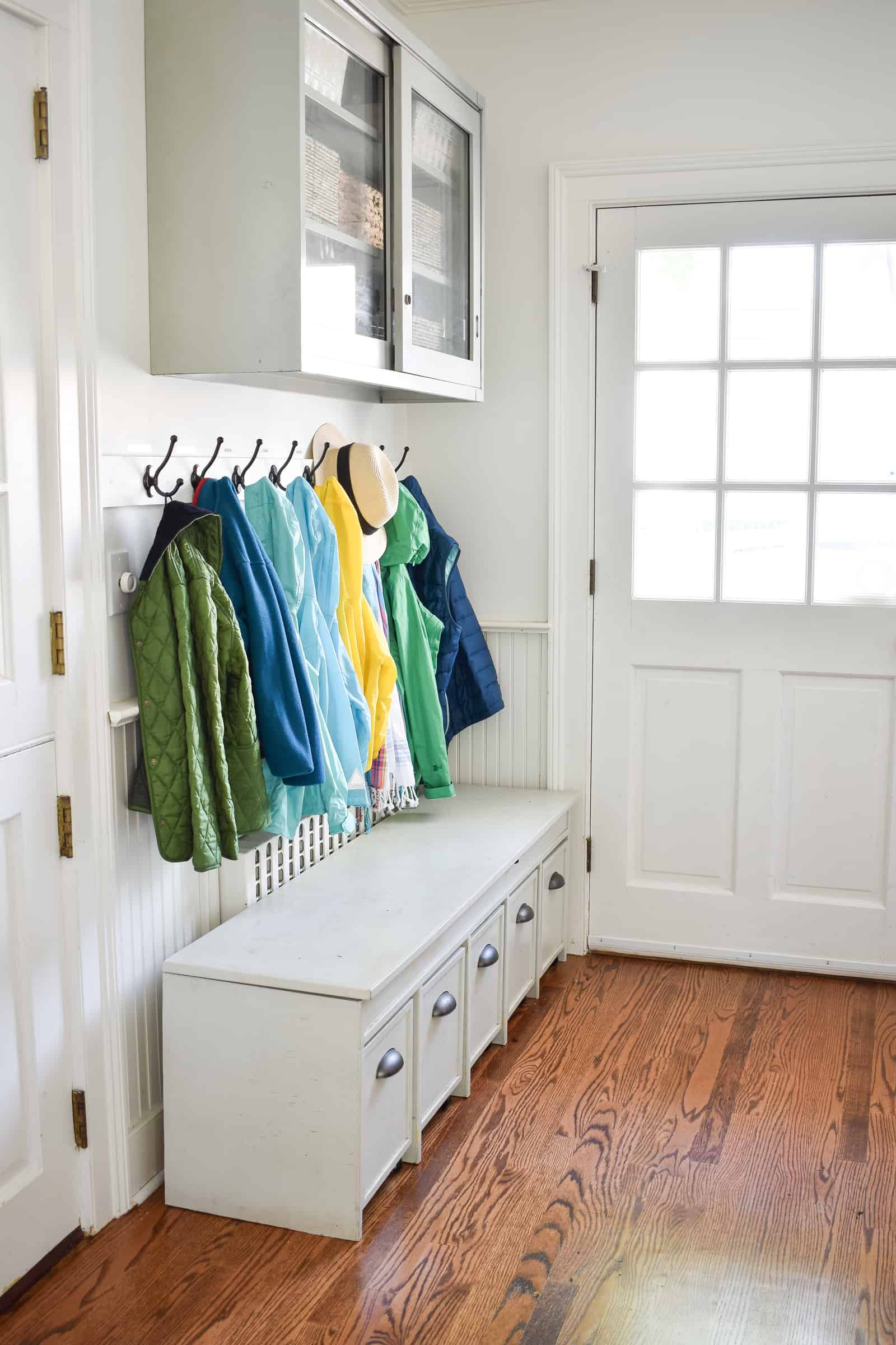 purging closets and drawers to make storage easier