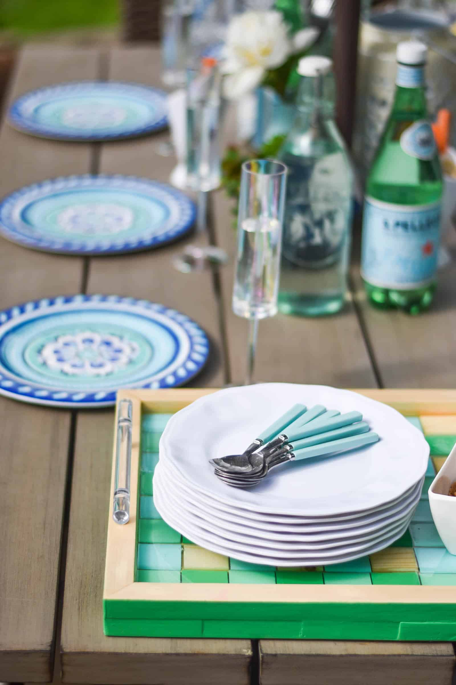 fun and festive outdoor kids table