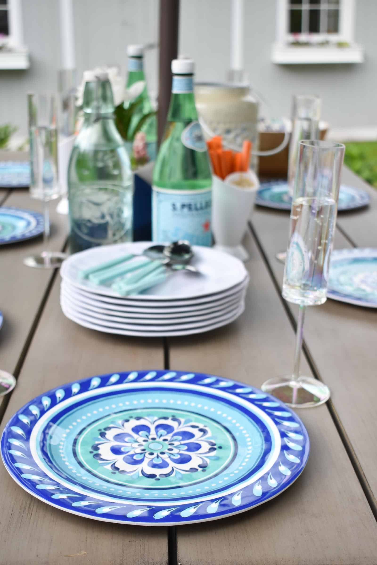 melamine patio plates for the kids