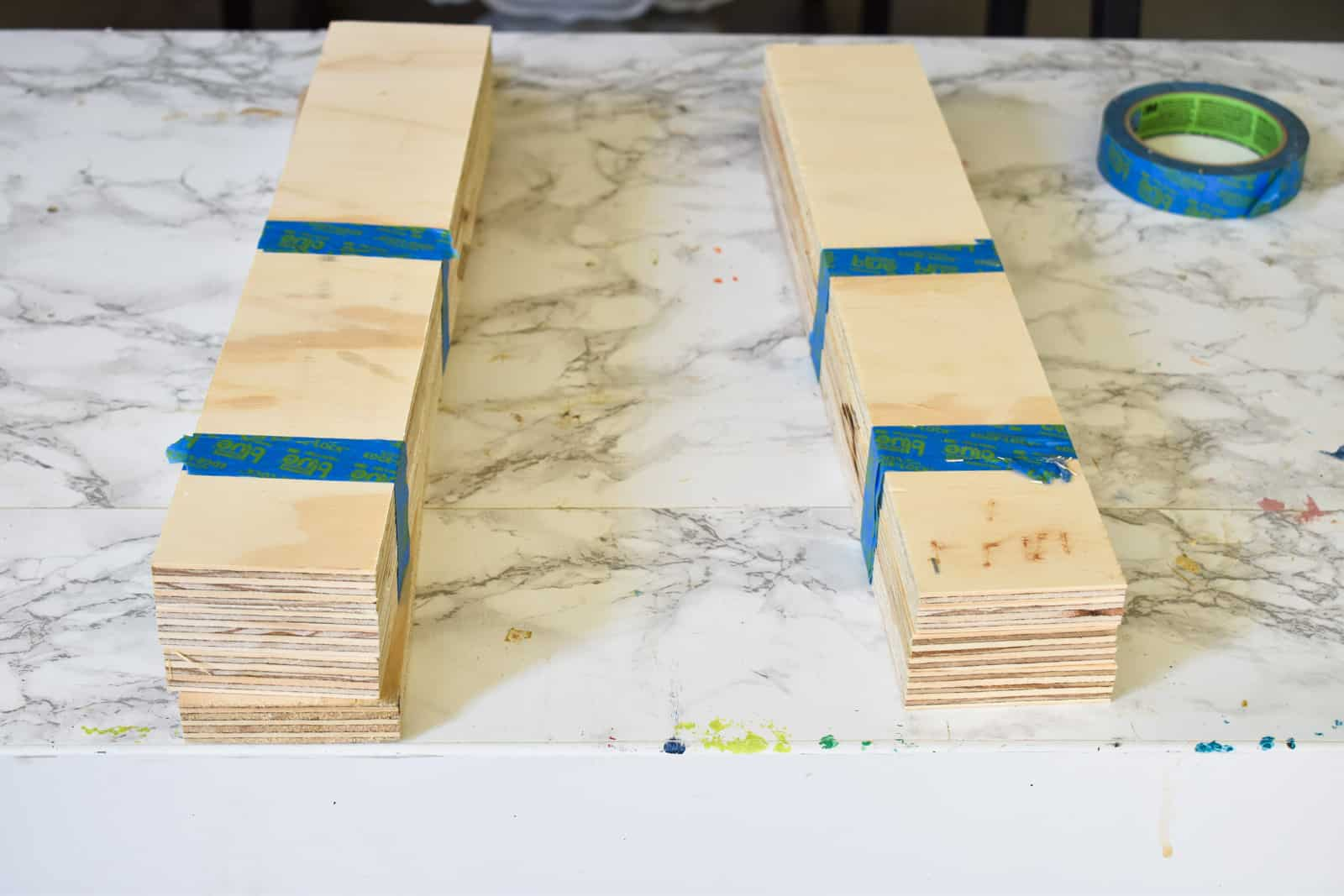 trim plywood strips to size