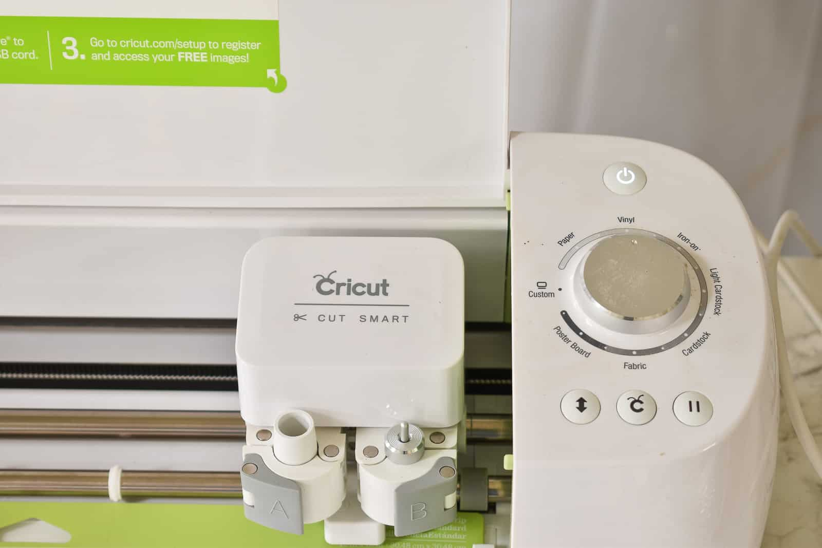 select settings on cricut