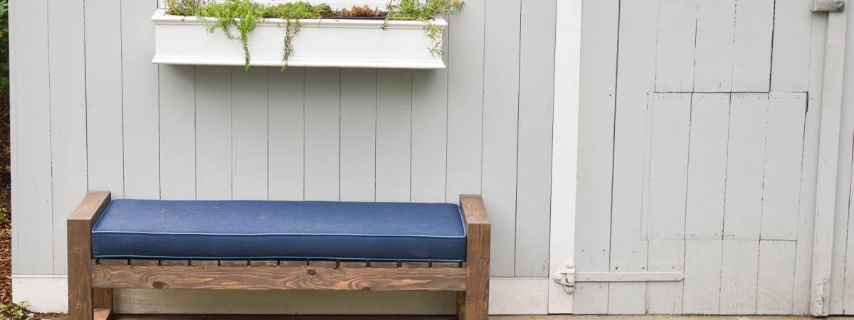 How to Make a Modern Backyard Bench