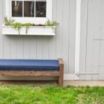 modern diy backyard bench