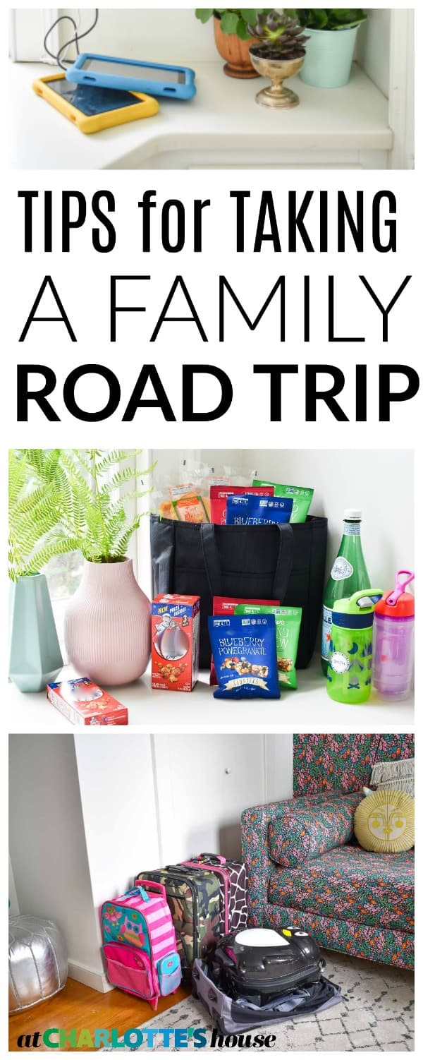 prepping for a family car trip