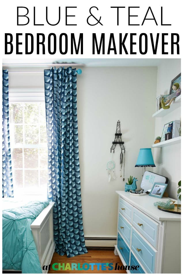 blue and teal girls bedroom