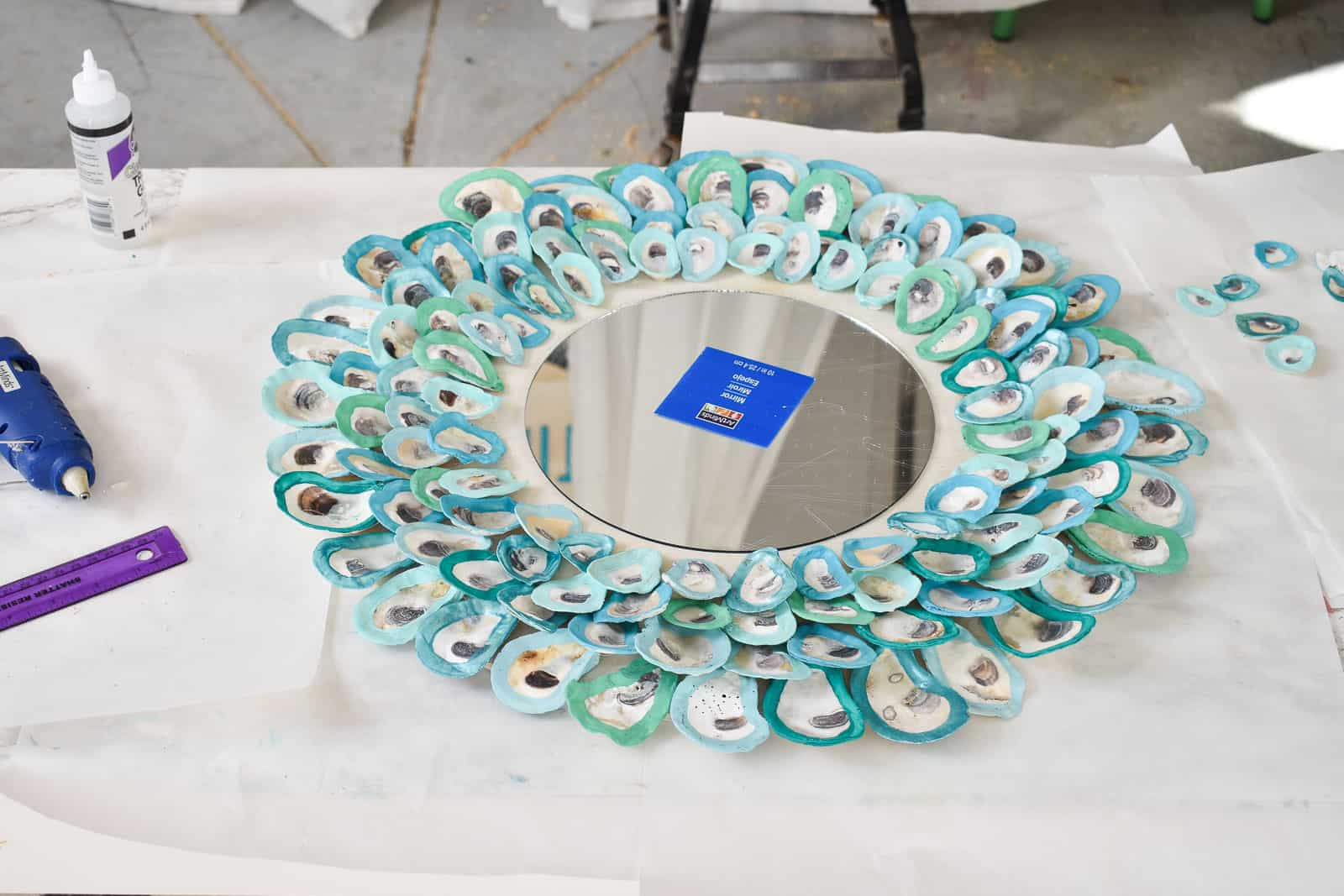 last ring of the oyster shell mirror