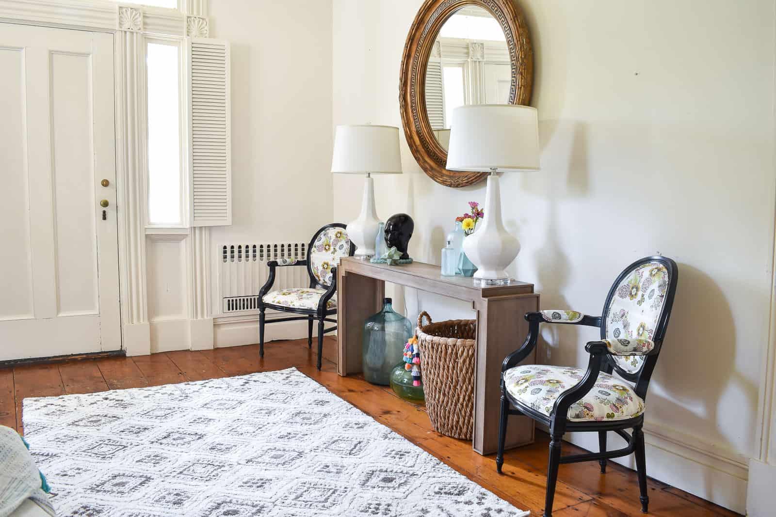 Foyer Reveal With Bassett Furniture