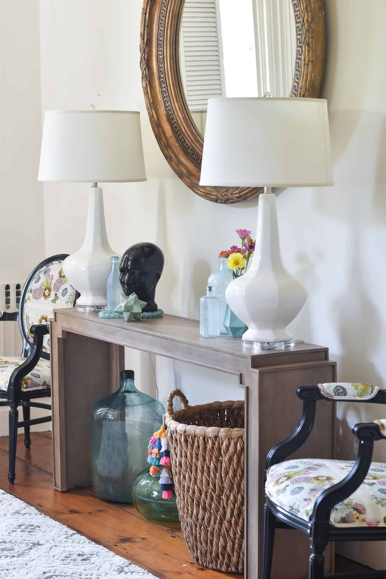 new console table in connecticut foyer