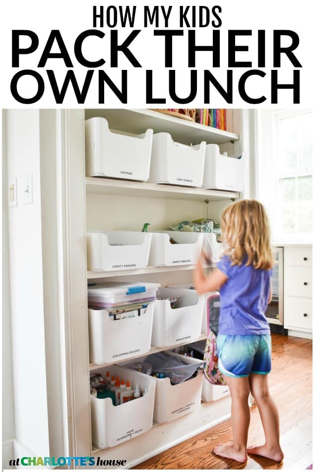 How i set up a kids lunch box station!