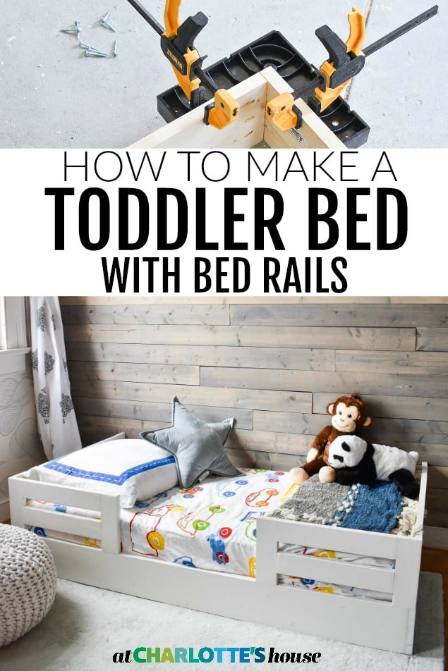 diy toddler bed with bed rails