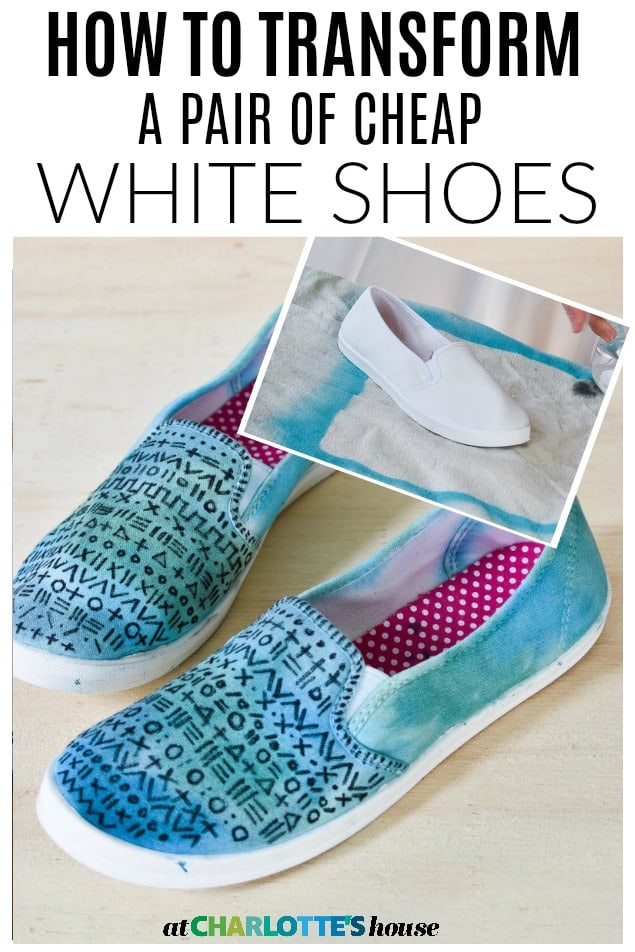 watercolor shoe makeover
