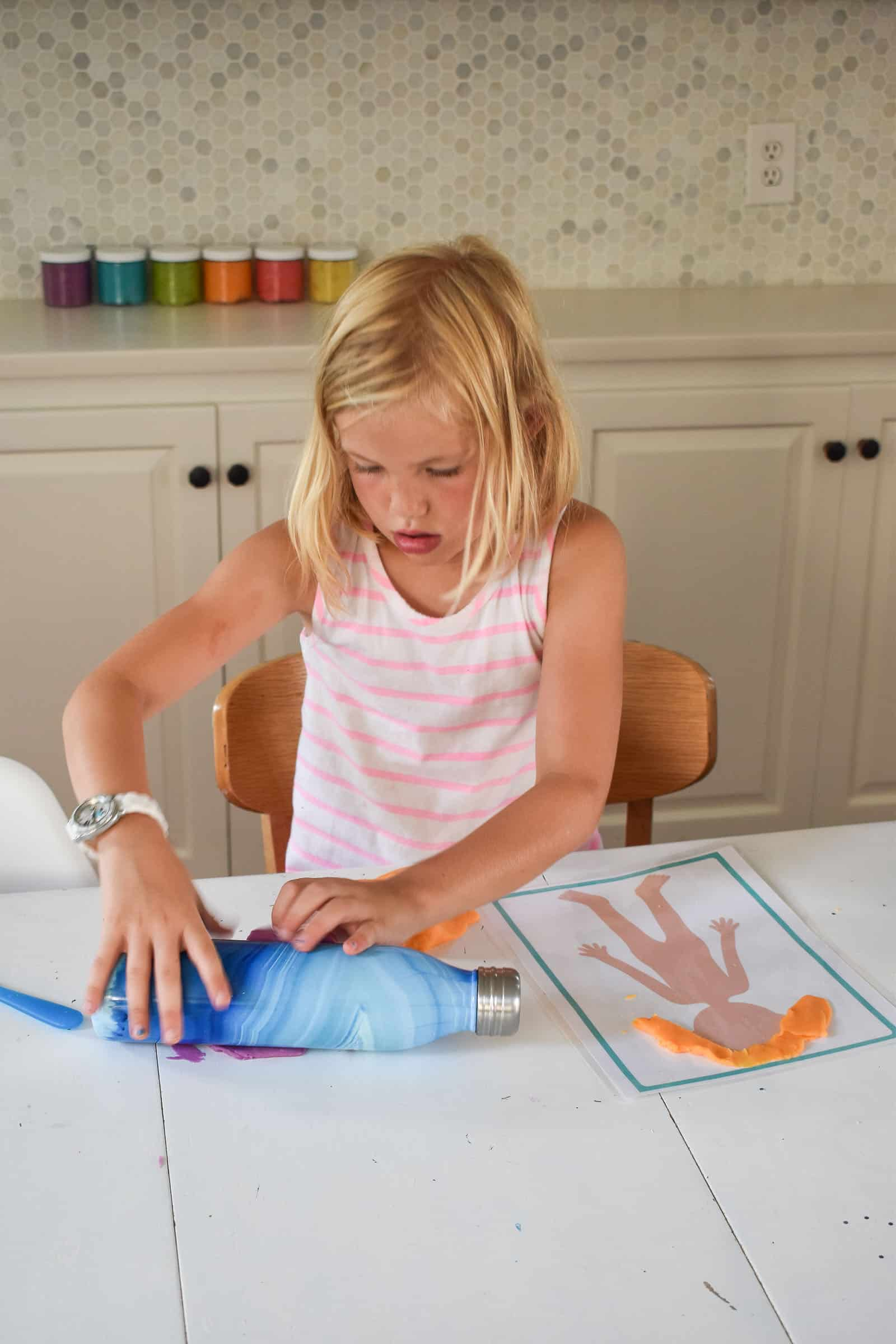 decorating play dough mats