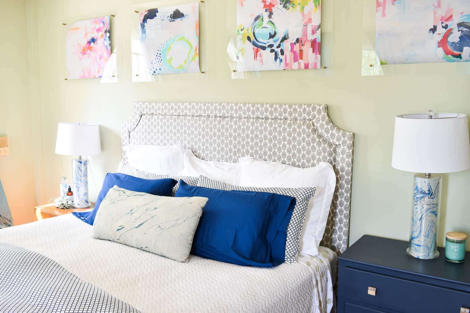updating bedding with summer home sale