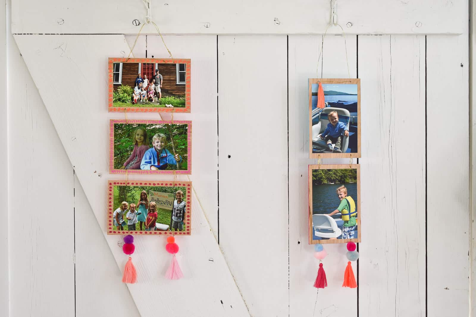 add details to the boho photo wall hanging