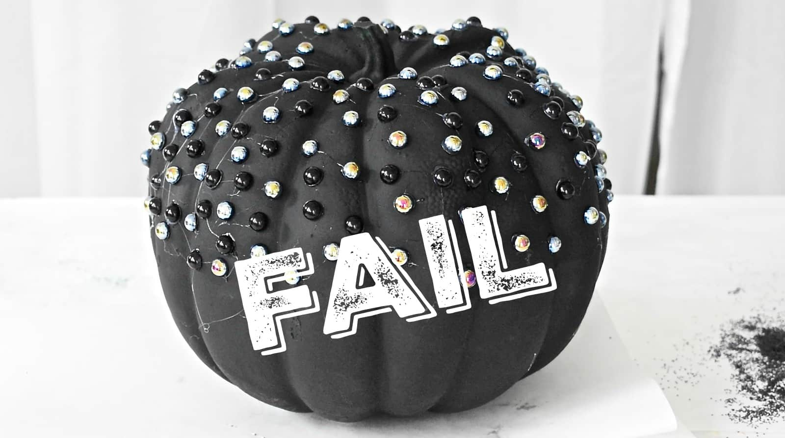 embellished black pumpkin fail