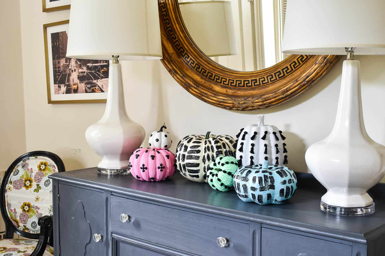 colorful pumpkins to match my decor