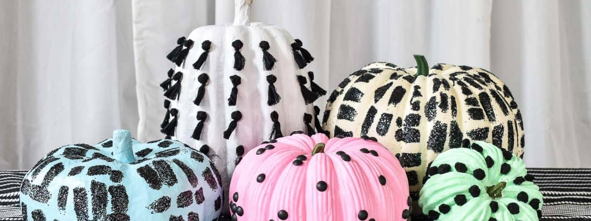 Colorful Embellished Pumpkins
