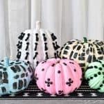 colorful embellished pumpkins