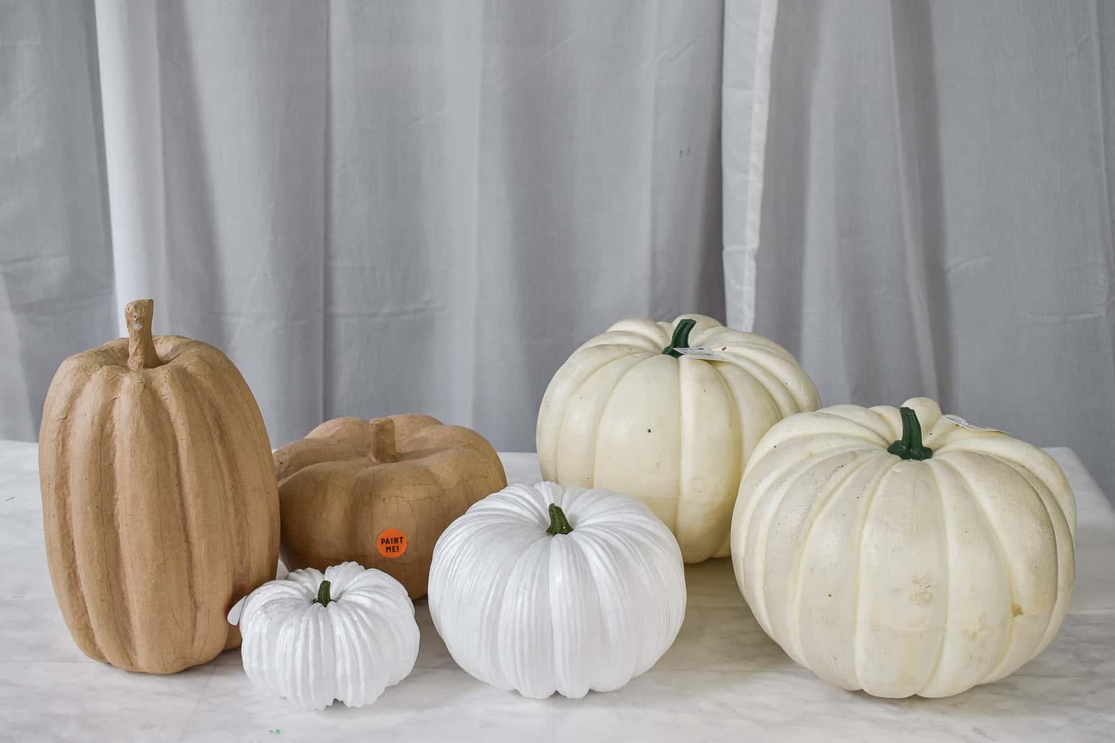 unpainted pumpkins