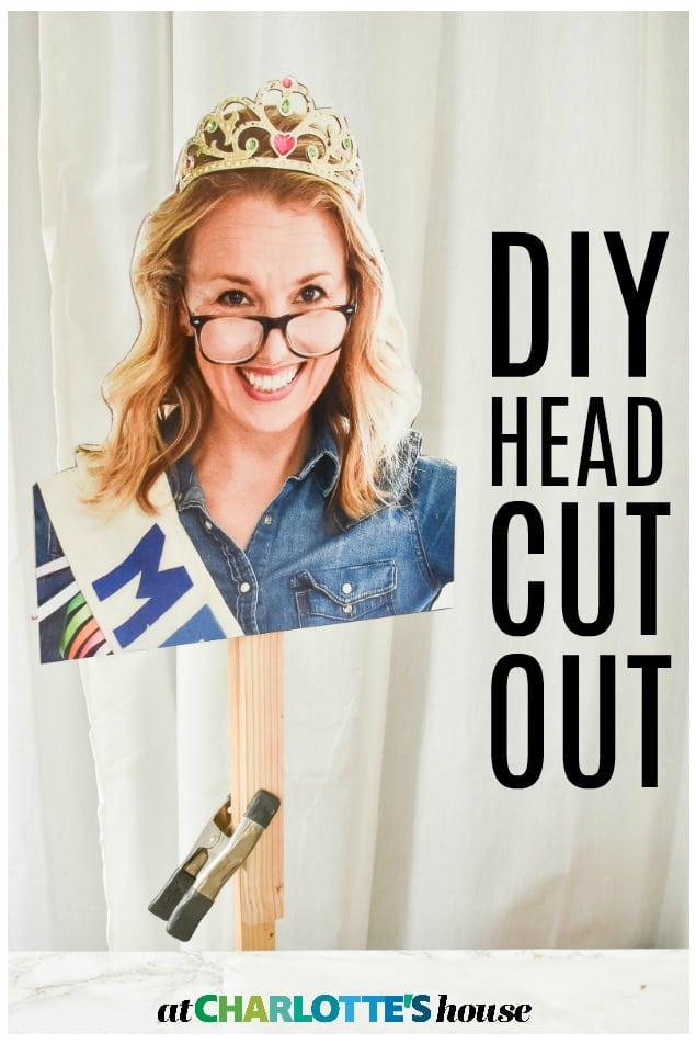 diy giant head cut out