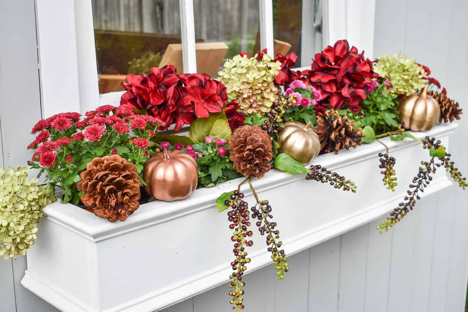 fall outdoor planters with JOANN florals