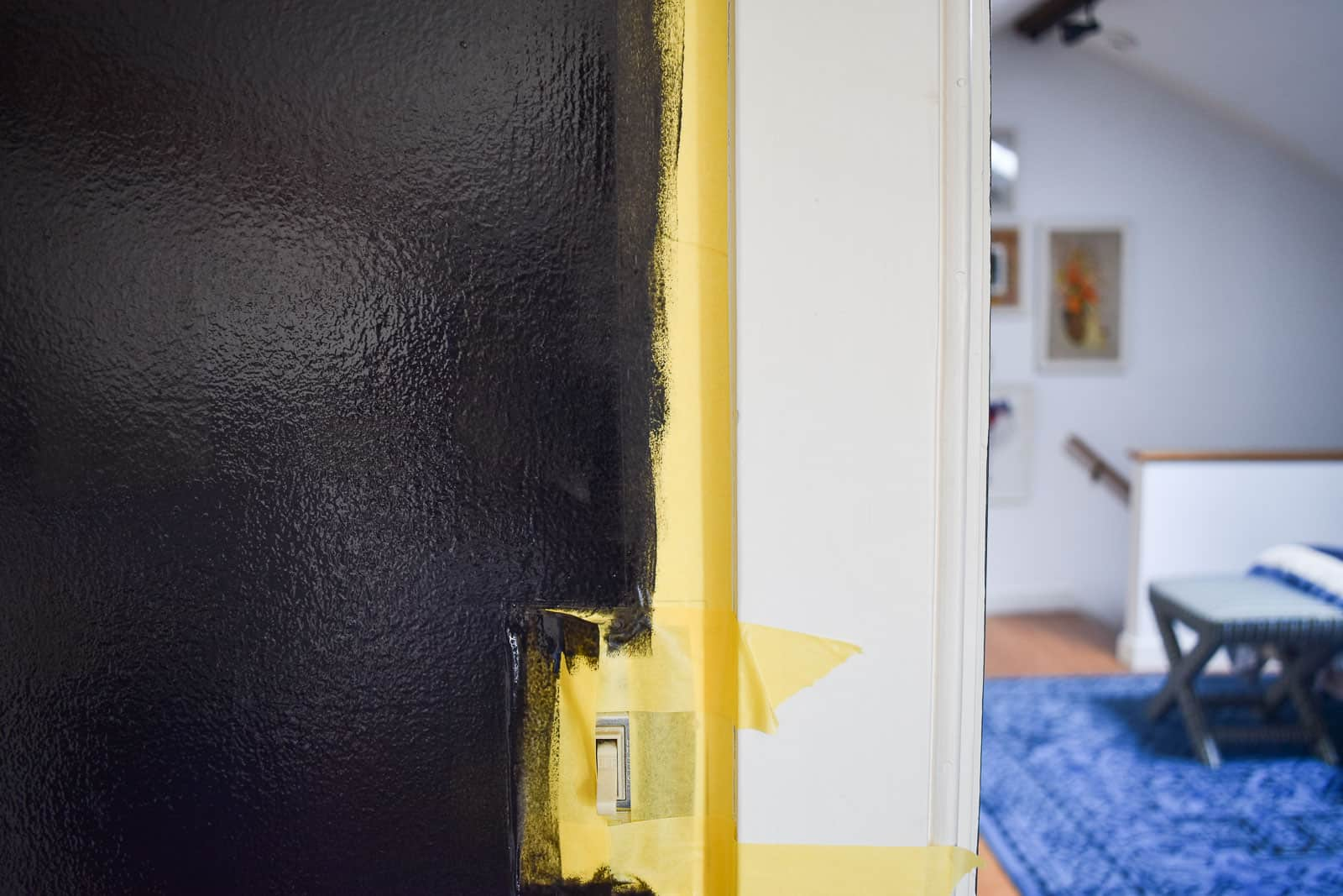 painting a chalkboard wall with FrogTape
