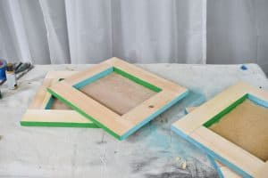 adding color to the edges of the frames