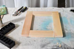 assembled wooden frames