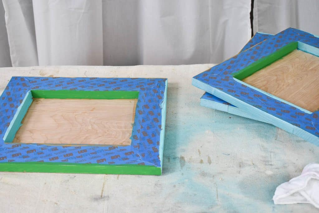 tape off edges and paint sides