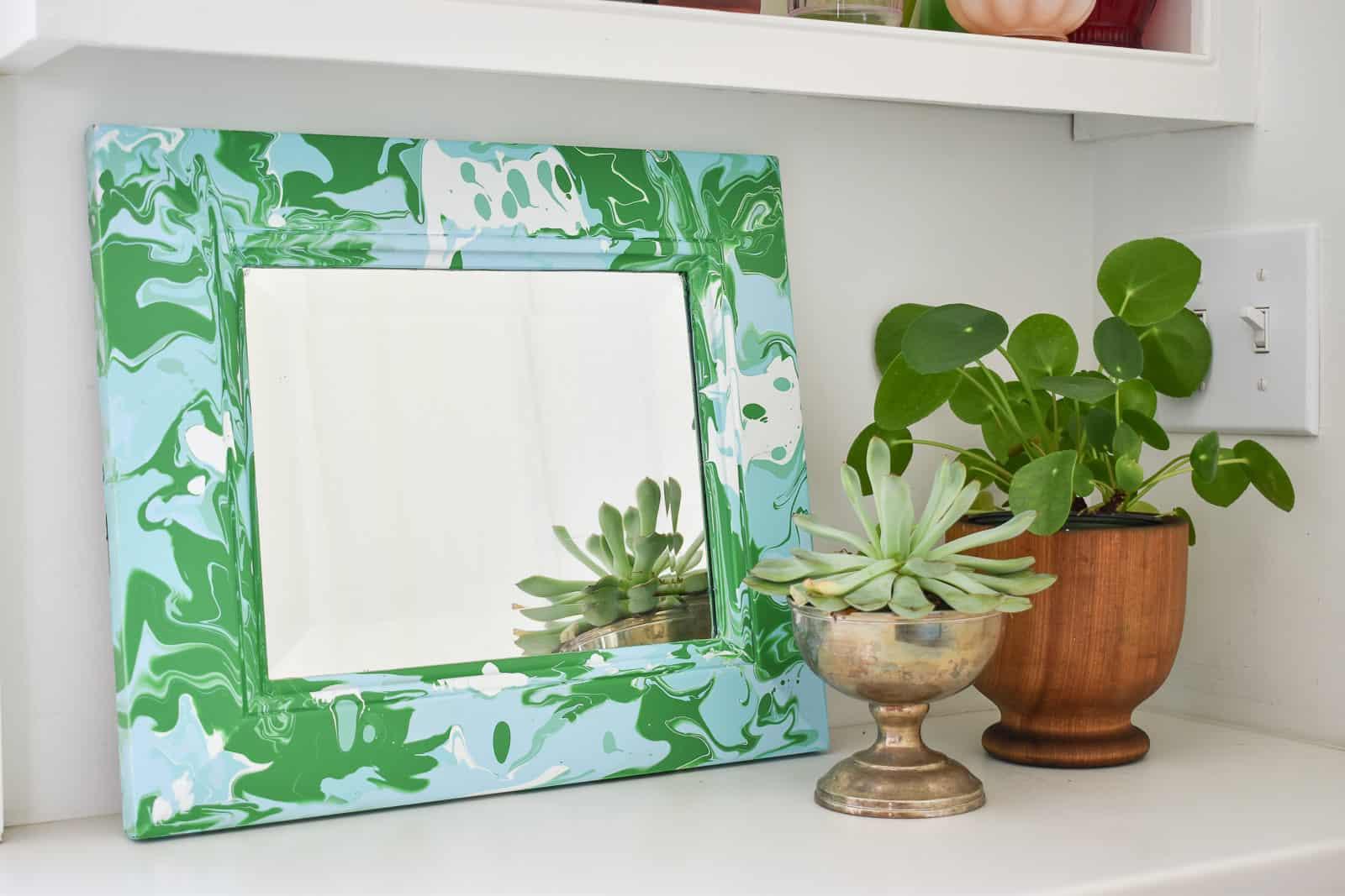 paint pour mirror