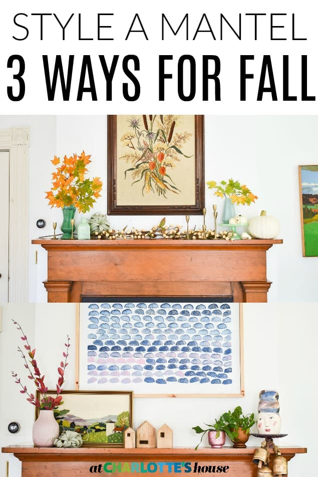 decorating a mantel for fall