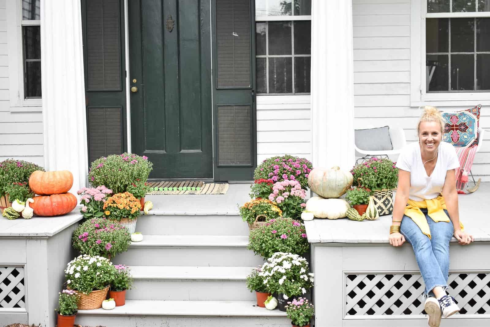 easy fall porch decor