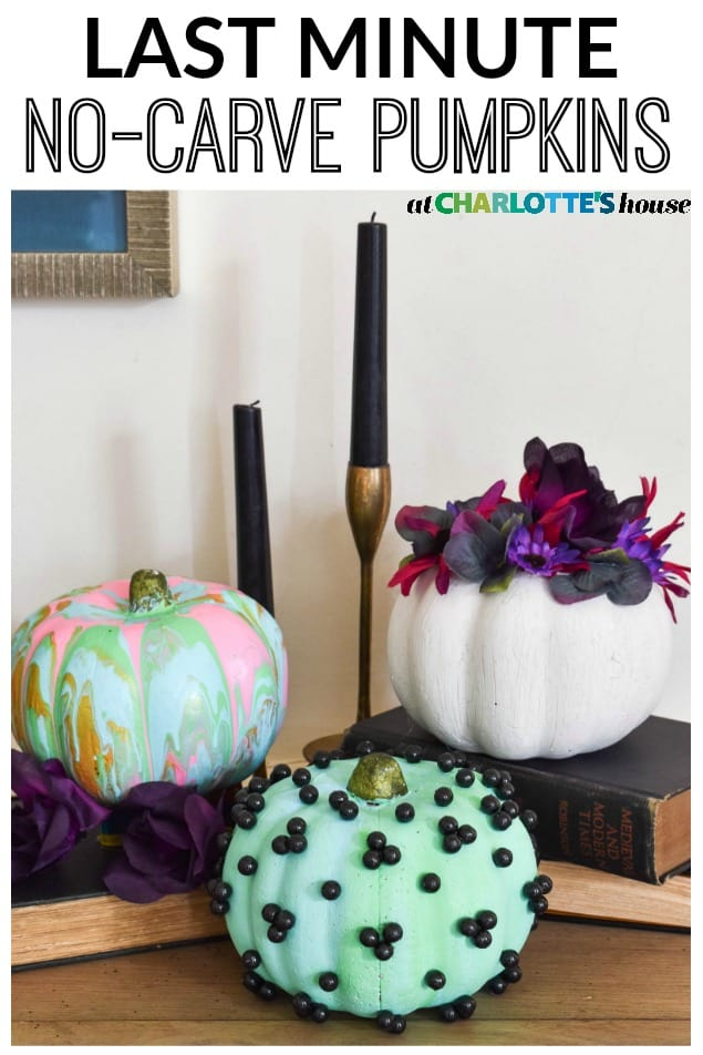 no carve halloween pumpkin ideas