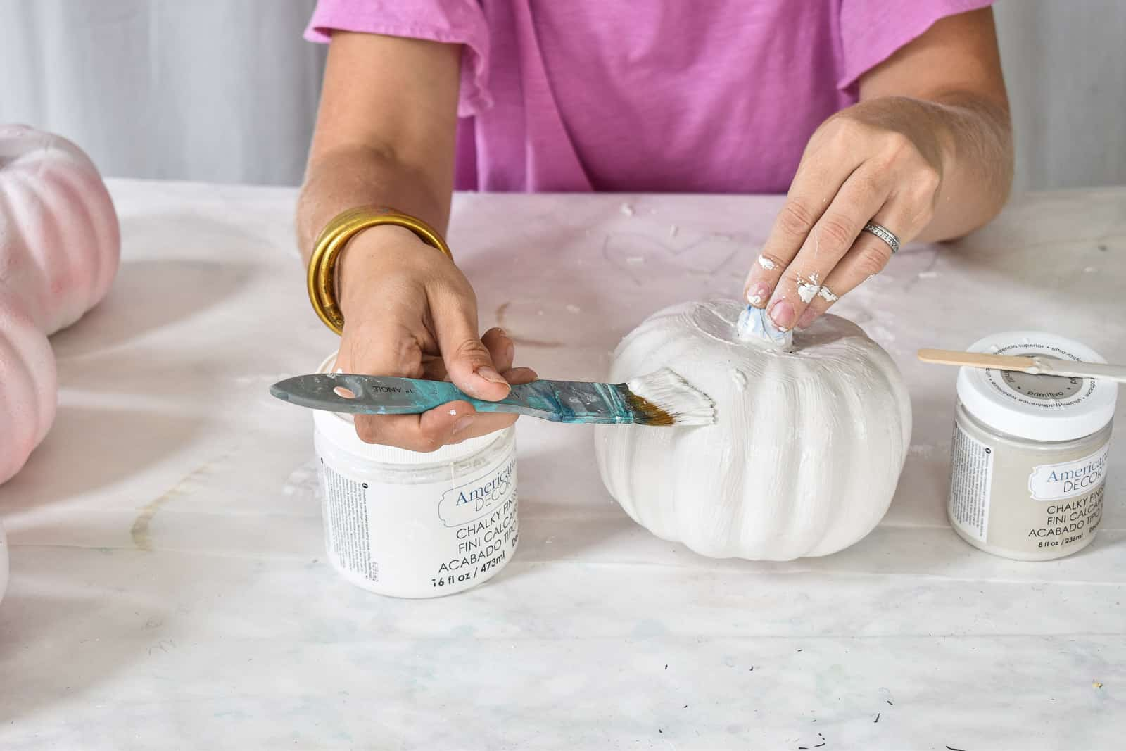 paint with white chalk paint