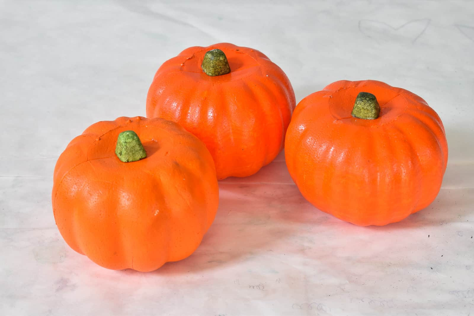 orange foam dollar tree pumpkins