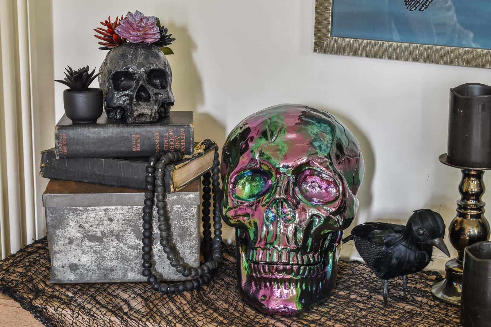 halloween foyer decor