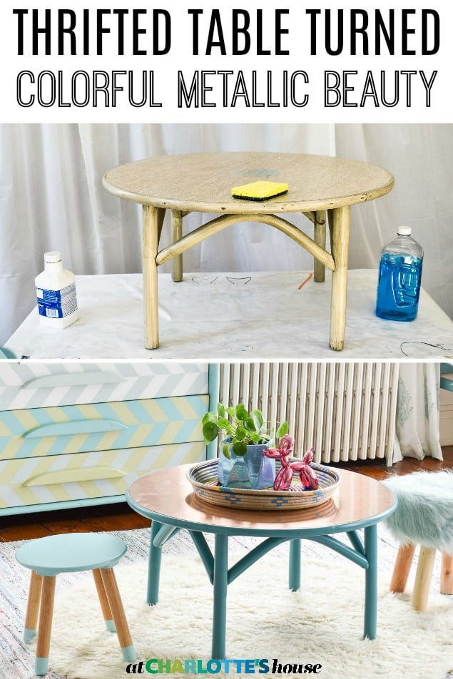 thrifted table makeover